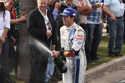 Podium: second place Sébastien Ogier and Julien Ingrassia, Volkswagen Polo WRC, Volkswagen Motorsport