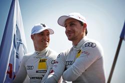Edoardo Mortara, Audi Sport Team Rosberg Audi RS 5 DTM and Filipe Albuquerque Audi Sport Team Rosberg Audi RS 5 DTM