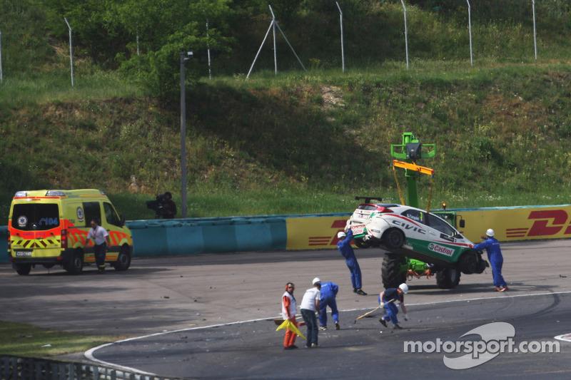 Crash, Gabriele Tarquini, Honda Civic, Honda Racing Team J.A.S.