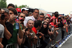 Fans on the pit lane walkabout