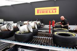 Pirelli tyre preparation