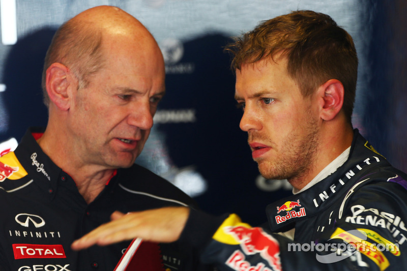 Adrian Newey, Red Bull Racing Chief Technical Officer met Sebastian Vettel, Red Bull Racing