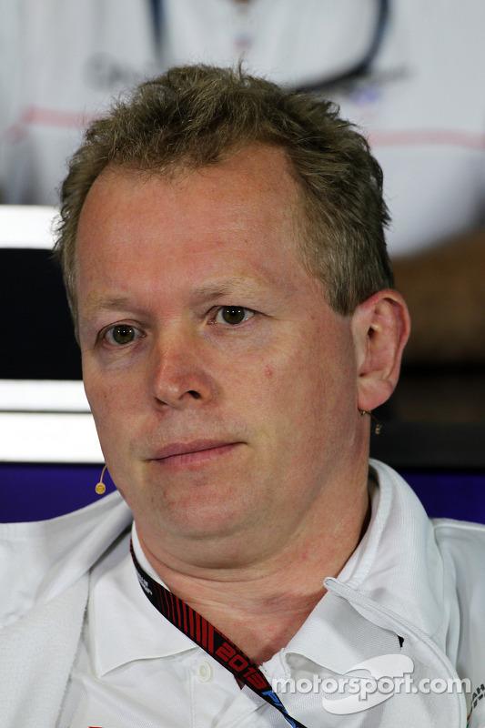 Andrew Green, diretor técnico da Sahara Force India F1 na Conferência de Imprensa da FIA