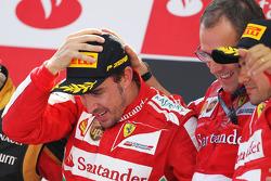 The podium, Ferrari, race winner; Stefano Domenicali, Ferrari General Director; Felipe Massa, Ferrari, third