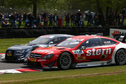 Filipe Albuquerque, Audi Sport Team Rosberg, Audi RS 5 DTM and Daniel Juncadella, Mercedes AMG DTM, DTM Mercedes AMG C-Coupe
