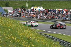 Gabriele Tarquini, Honda Civic, Honda Racing Team J.A.S.  and Robert Huff, SEAT Leon WTCC, ALL-INKL.COM Münnich Motorsport