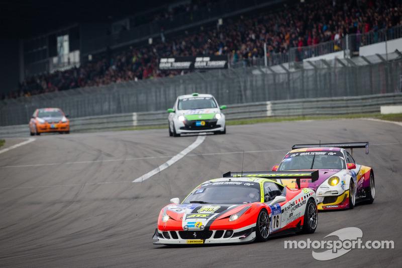#76 GT Corse Ferrari F458 Italia (SP8): Alexander Mattschull, Maximilian Götz, Patrik Kaiser, Christian Kohlhaas