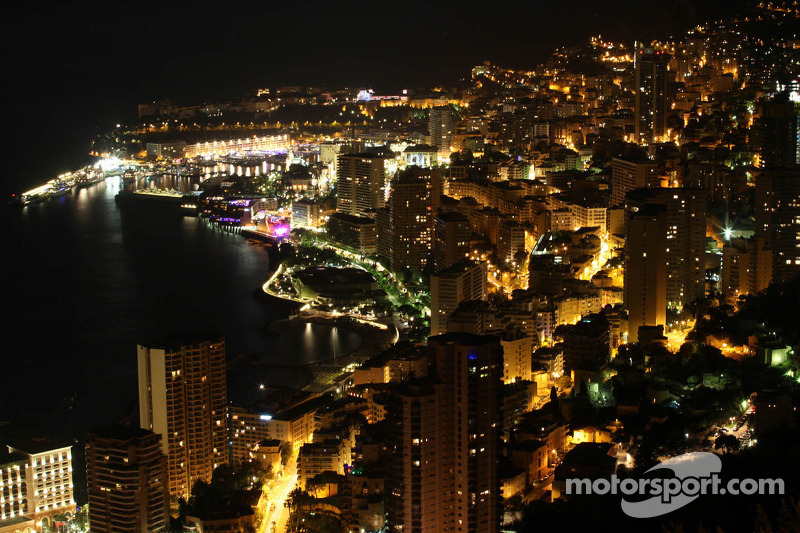 Scenic Monaco at night
