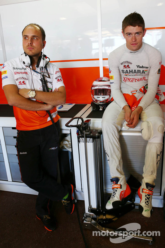 Paul di Resta, Sahara Force India F1 com Gianpiero Lambiase, Sahara Force India F1 engenheiro