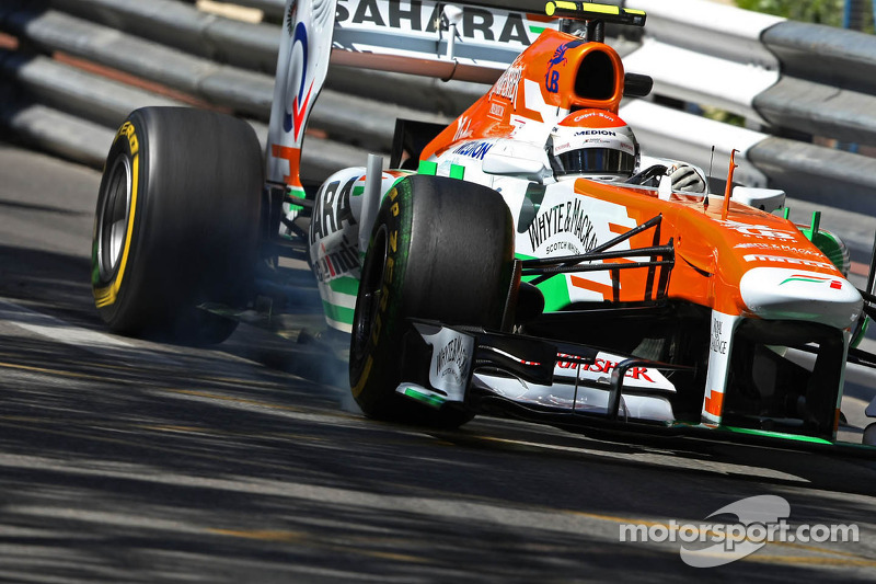 Adrian Sutil, Sahara Force India VJM06 verremt zich