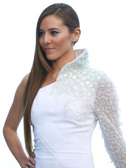 Jessica Michibata, girlfriend of Jenson Button, McLaren at the Amber Lounge Fashion Show
