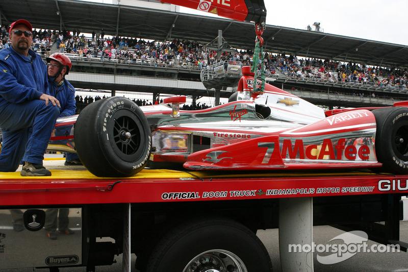 Schade aan de auto van Sebastian Bourdais, Dragon Racing Chevrolet