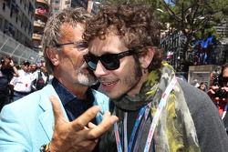 Eddie Jordan, BBC Television Pundit with Valentino Rossi, Moto GP Rider on the grid