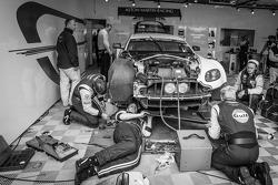 Aston Martin Racing team members at work