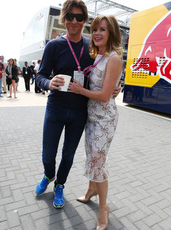 Amanda Holden, with her husband Chris Hughes