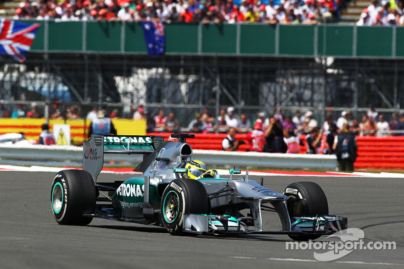Ganador del Gran Premio de Gran Bretaña de F1 2013: Nico Rosberg (Mercedes F1 W04)