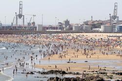 La playa de Porto
