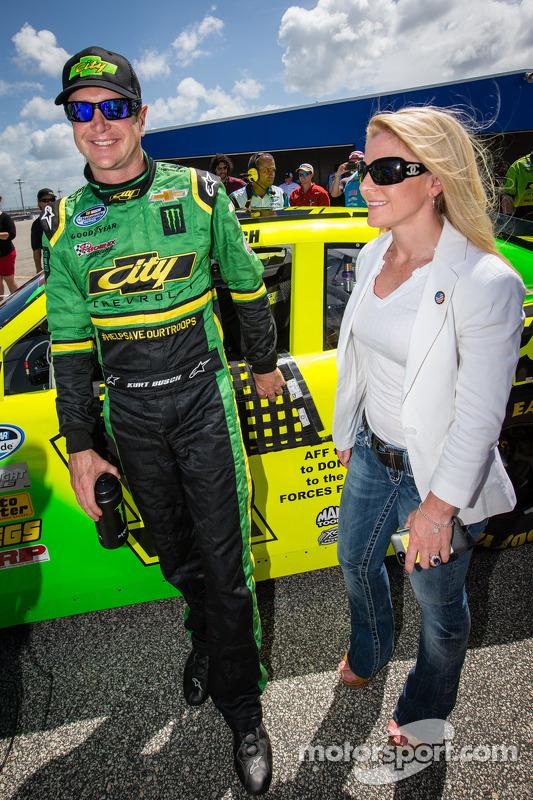 Kurt Busch met vriendin Patricia Driscoll