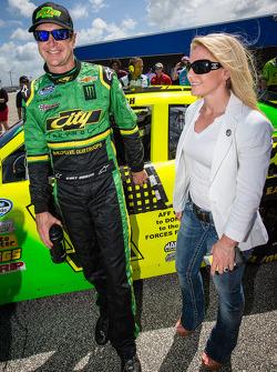 Kurt Busch with girlfriend Patricia Driscoll