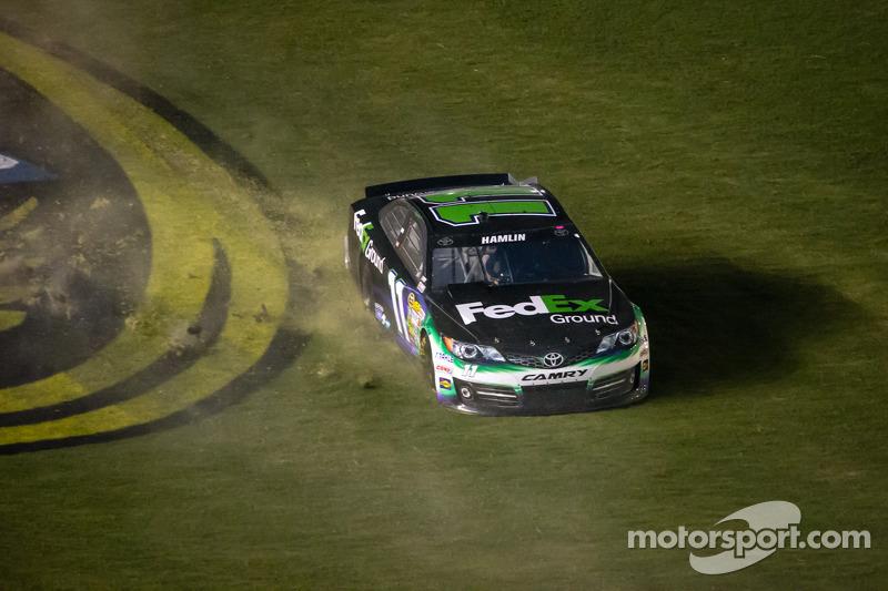 Denny Hamlin, Joe Gibbs Racing Toyota crashes