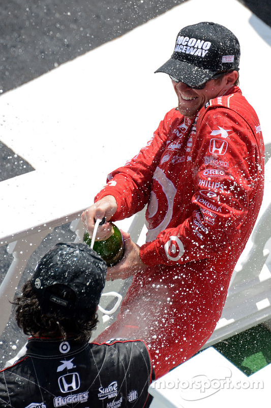 O vencedor Scott Dixon, Target Chip Ganassi Racing Honda