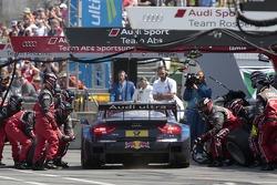 Pitstop for Mattias Ekström, Audi Sport Team Abt Sportsline, Audi A5 DTM