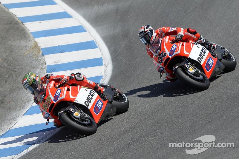 Andrea Dovizioso, Ducati Team en Nicky Hayden, Ducati Team