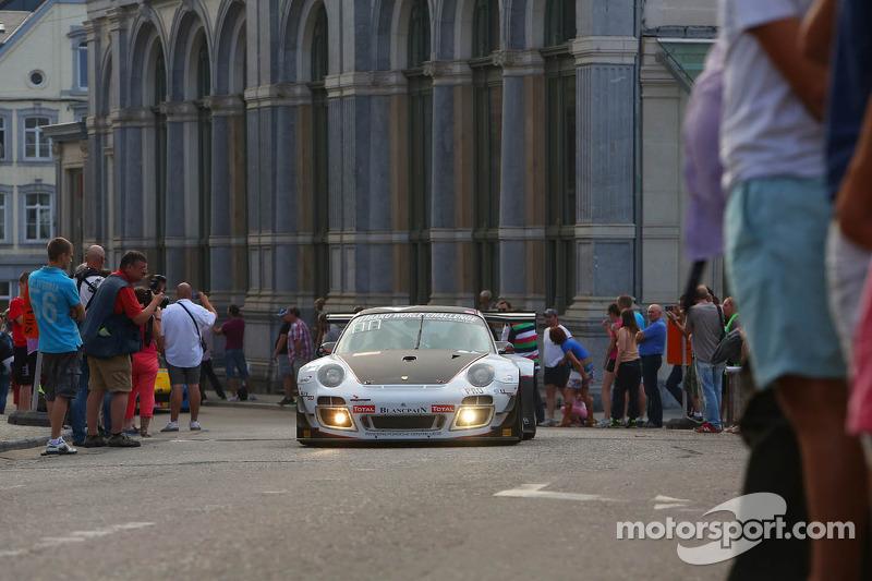 #911 Prospeed Competition, Porsche 997 GT3R: Marco Holzer, Nick Tandy, Marco Mapelli en #75 Prospeed