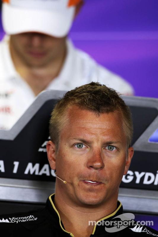 Kimi Raikkonen, Lotus F1 Team na coletiva da FIA