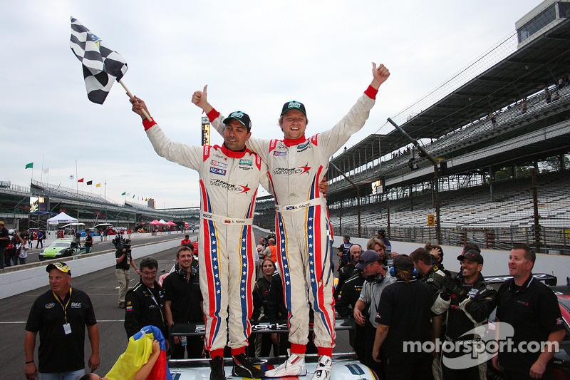 Race winners Alex Popow and Ryan Dalziel