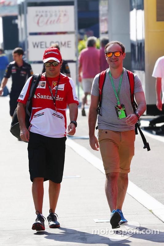 Felipe Massa da Ferrari com seu irmão Dudu