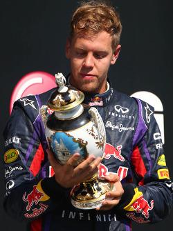 terceiro colocado Sebastian Vettel, Red Bull Racing