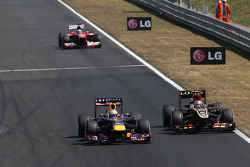 Sebastian Vettel, Red Bull Racing e Romain Grosjean, Lotus F1 Team