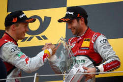 Mattias Ekström, Audi Sport Team Abt Sportsline, Audi A5 DTM and Mike Rockenfeller, Audi Sport Team Phoenix Racing Audi A5 DTM