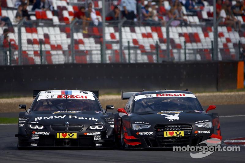 Bruno Spengler, BMW Team Schnitzer BMW M3 DTM en Edoardo Mortara, Audi Sport Team Rosberg Audi RS 5 DTM