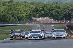 Randy Pobst, Volvo S6 James Sofronas, Audi R8 Johnny O'Connell, Cadillac CTS-V.R