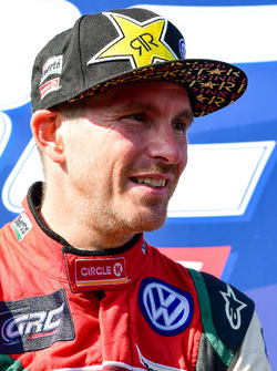 Podium: second place Scott Speed, Volkswagen