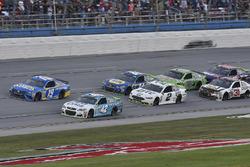 Kyle Larson, Chip Ganassi Racing Chevrolet, Daniel Suarez, Joe Gibbs Racing Toyota, Brad Keselowski, Team Penske Ford, and Chase Elliott, Hendrick Motorsports Chevrolet