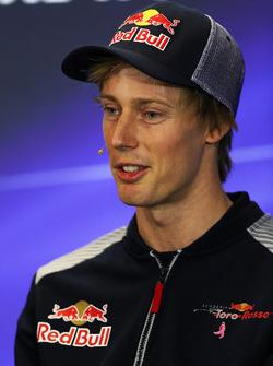 Brendon Hartley, Scuderia Toro Rosso in the Press Conference