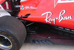 Ferrari SF70H detalle de las branquias