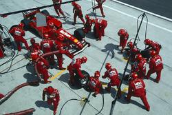 Pit stop, Eddie Irvine, Ferrari F399