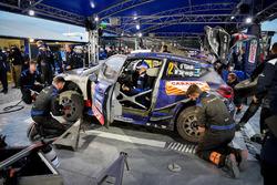 The car of Ott Tänak, Martin Järveoja, Ford Fiesta WRC, M-Sport in service