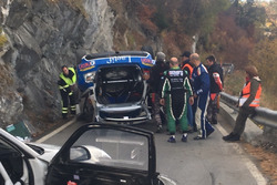Olivier Burri, Stéphane Rey, Skoda Fabia R5, D-Max Swiss, Unfall