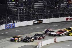 Kyle Busch, Joe Gibbs Racing Toyota wins as Denny Hamlin, Joe Gibbs Racing Toyota and Ryan Blaney, Wood Brothers Racing Ford wreck