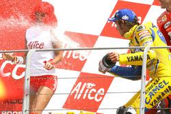 Podium : Valentino Rossi, vainqueur de la course