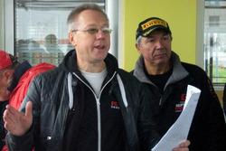 Начальник безпеки Олександр Кулаков та Голова Комітету кільцевих гонок ФАУ Леонід Протасов