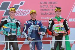 Podyum: 2. Joan Mir, Leopard Racing, yarış galibi Jorge Martin, Del Conca Gresini Racing Moto3, 3. Marcos Ramírez, Platinum Bay Real Estate