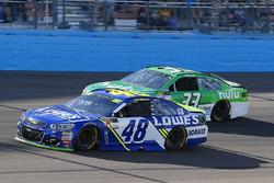 Jimmie Johnson, Hendrick Motorsports Chevrolet and Jeffrey Earnhardt, Circle Sport – The Motorsports Group Chevrolet