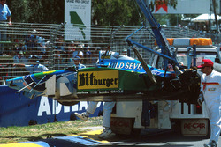 Michael Schumacher, Benetton B194 Ford après son accident
