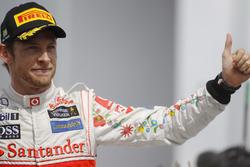Podio: Jenson Button, McLaren